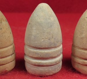 Five High-Grade Spencer Carbine Bullets with Non-Corroded Bases
