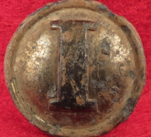 Confederate Infantry Pewter Coat Button