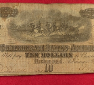 Confederate Ten Dollar Note