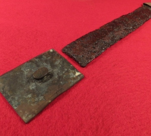 Confederate Side Knife with Scabbard Frog & Tip