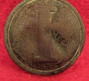 "Confederate Infantry - Lined ""I"" Button"