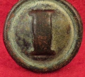 "Confederate Western Theatre Puff ""I"" Infantry Button"