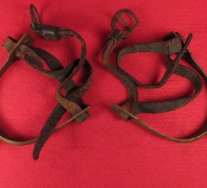 Pair of Spurs with Straps